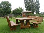 Inter-Trak - Tartak Strzelno - Architektura ogrodowa - Ławki i stoły dębowe