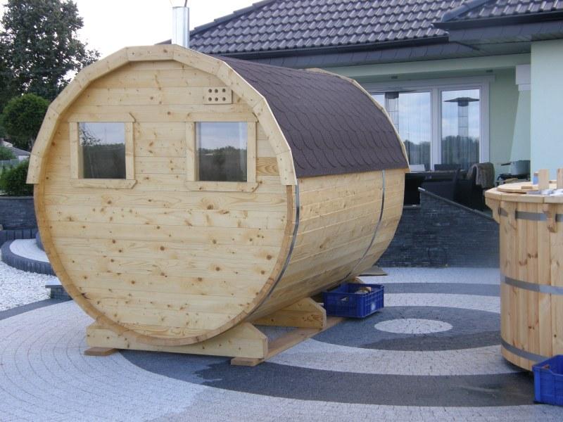 Sauna i balia drewniana - realizacja