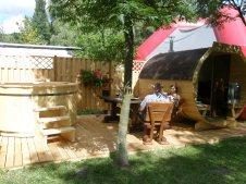 Sauna i balia ogrodowa z drewna